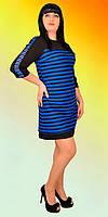 Молодежное комбинированное платье из двух тканей