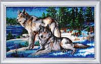 Набор для вышивания бисером Волки 2 584