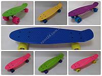 Пенни борд (Penny Board) 22 классический матовые колеса (PU аморт, до 80 кг) для детей и подростков