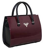 Каркасная сумка Prada (Прада), бордовая