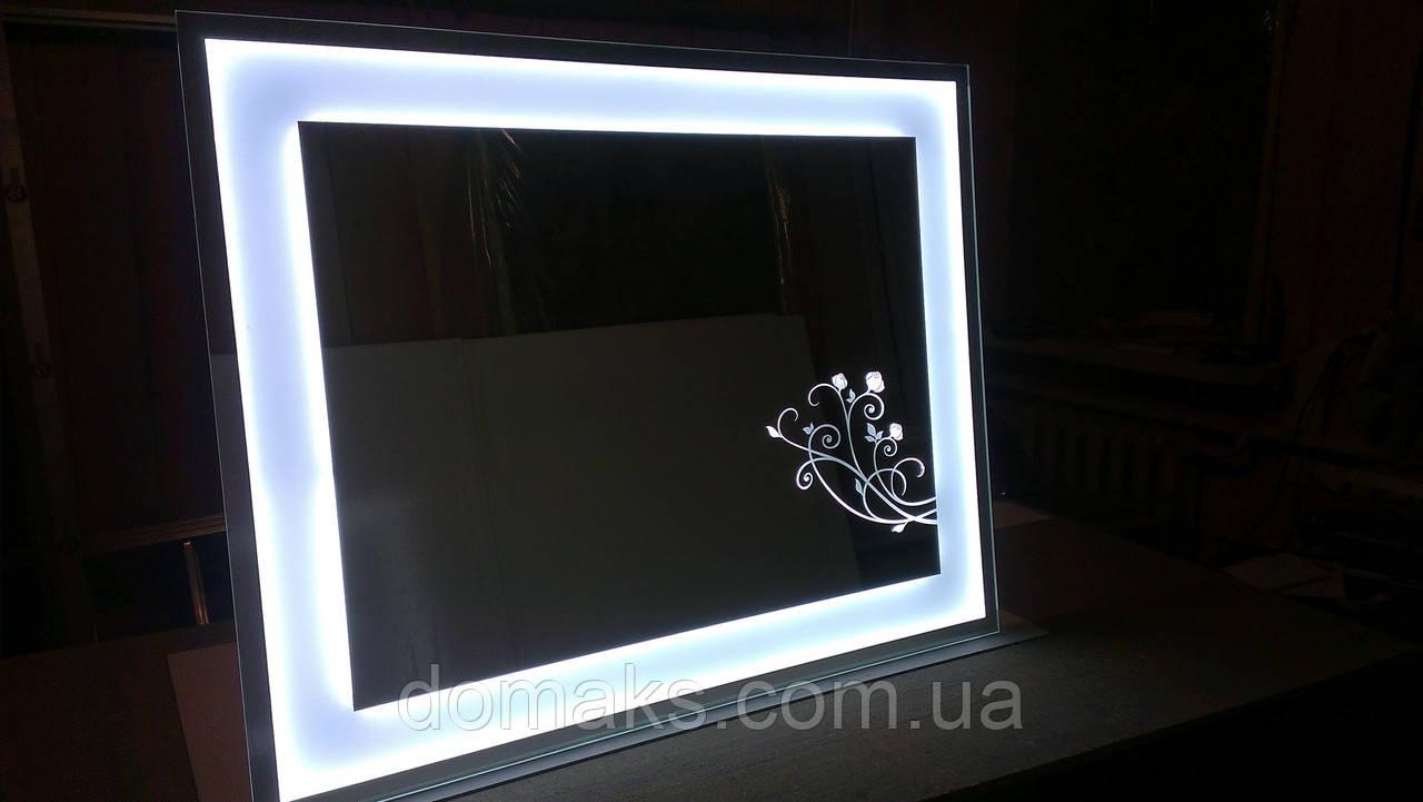 Зеркало с декором и подсветкой