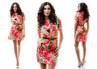 Платье штапель цветы