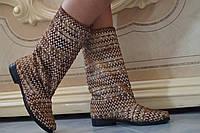 Женские весенние стильные сапожки. Арт-0459