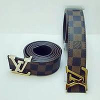 Ремень Louis Vuitton коричневый в клетку