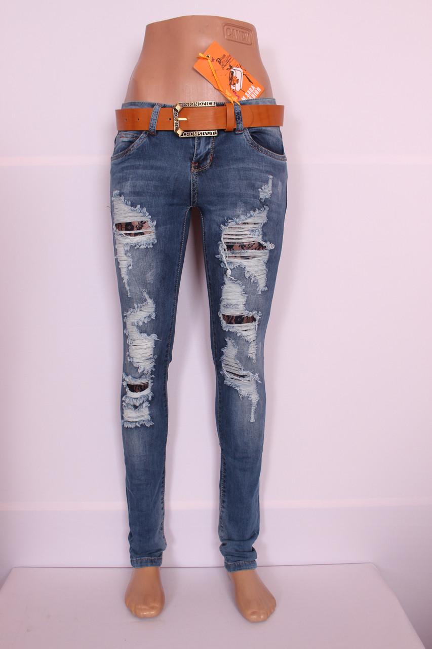 Как сделать джинсы рваные женские