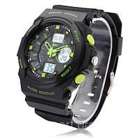 Спортивные наручные часы Skmei 0955 мужские кварцевые двойной циферблат водостойкие противоударные