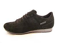 Кроссовки  женские Ecco замшевые, черные (ессо экко )р.36,39