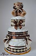 """Торт из памперсов """"Шоколадный"""" 60 штук. Доставка в Киев и по Украине"""