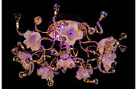 Люстра галогенная со светодиодной подсветкой , пультом 8528-8
