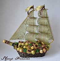 """Корабль из конфет """"Капитану"""". Оригинальный подарок руководителю."""