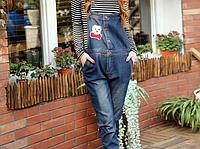 Модный джинсовый комбинезон на пуговицах для беременных и кормящих