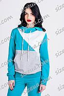 Женский  спортивный костюм с толстовкой Blue