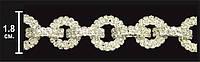 Лента из стекла+металл № А856 сер+бел.