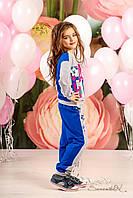Стильный детский трикотажный костюм для девочек