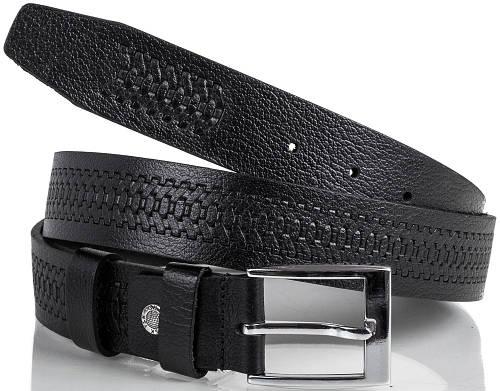 Оригинальный кожаный мужской ремень Y.S.K. (УАЙ ЭС КЕЙ) SHI3005 черный
