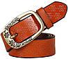 Женский оригинальный кожаный пояс с тиснением Traum 8825-02 ДхШ: 110х3,2 см.