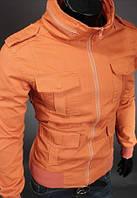 Мужская  Куртка демисезонная катоновая оранж
