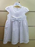 Белое нарядное платье для девочки