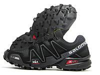 Кроссовки мужские Salomon черные с серым