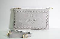 Брендовая женская сумка RPADA Прада бежевая