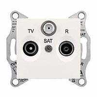 Розетка Schneider-Electric Sedna TV/R/SAT проходная (4дб) слоновая кость. SDN3501423
