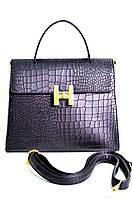 Брендовая женская сумка Hermes Гермес черная