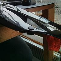 Дефлектор капота (мухобойка) на Ситроен Берлинго с 96-03 (на крепижах).