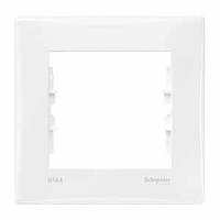 Рамка Schneider-Electric Sedna 1-пост IP44-выключат. IP20-розетка белая. SDN5810121