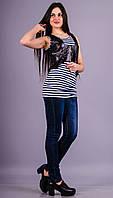 Гвен.Кожаная женская жилетка.Черный.(Р)., фото 1