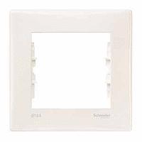 Рамка Schneider-Electric Sedna 1-пост IP44-выключат. IP20-розетка слоновая кость. SDN5810123