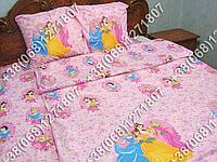 Детское полуторное постельное белье Принцессы Дисней (0533)