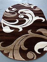 Рельефный ворсовый ковер Legenda 0313 коричневый