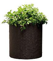 Горшок для цветов средний Keter, коричневый
