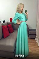 Вечернее платье в пол коттон мемори размеры 42 44 46