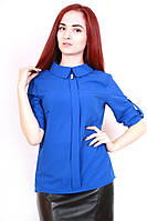 Блуза шифоновая 367 синий
