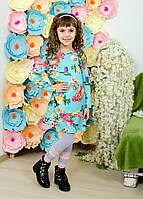 Платье для девочки с цветочным принтом, фото 1