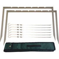 Мангал-рамка, 6 шампуров в комплекте, чехол, 44х36 см