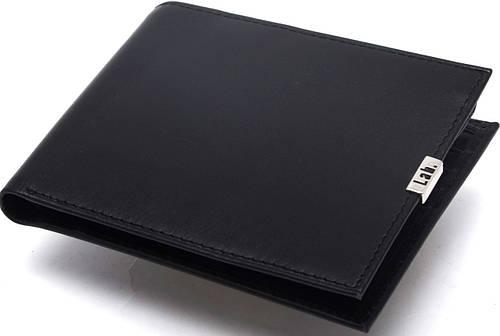 Надежное кожаное мужское портмоне Lab Pal Zileri Metal 21032/10 черный