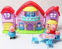Домик свинки Пеппы, свинка Пеппа и ее семья - кукольный домик
