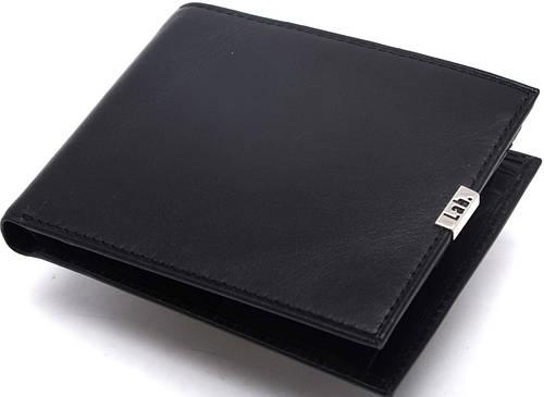 Мужское солидное кожаное портмоне Lab Pal Zileri Metal 21033/10 черный