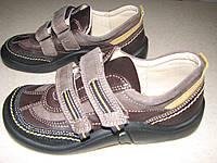 Туфли мальчикам ортопедические натуральная кожа р.34-37 коричневые на липучках
