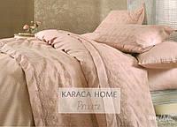 Постельное белье Karaca Home с покрывалом пике Karya pudra  (пудра) евро размера