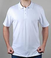 Футболка мужская Adidas батал 1499 Белая