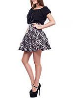 """Короткая юбка-клеш """"Элина блек"""", размер S-M"""