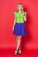 Женский костюм с юбкой 640 (салатовый)