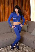 Спортивный костюм с укороченной курточкой Синий