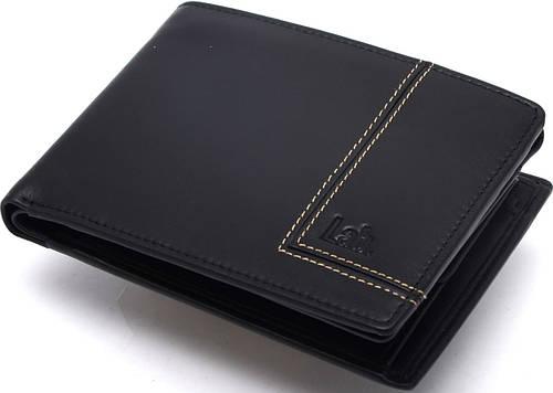 Мужское прочное кожаное портмоне Lab Pal Zileri Olimpia 21053/10 черный