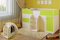 Кровать-чердак детская Малыш Veseliil 160см ЦВЕТ ЛЮБОЙ