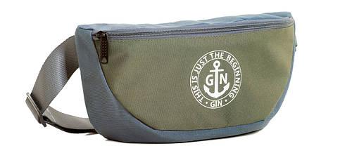 Поясная сумка L GIN 75395 серый с хаки