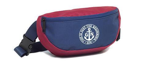 Поясная сумка S GIN 753952 бордо с синим